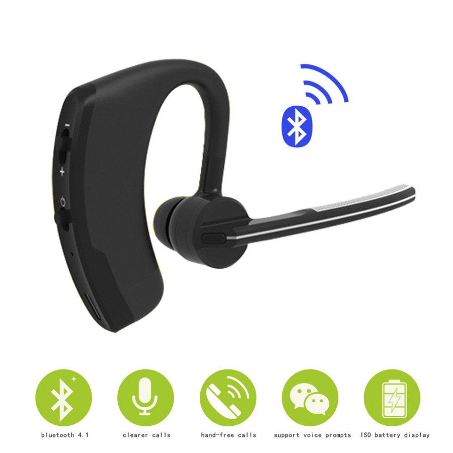 Business Bluetooth Headphone Handsfree Wireless Earphones with Mic Voice Control Headset Earphone for Xiaomi Auricular Bluetooth