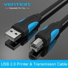 Vention-cable usb para impresora 3d Cable usb de alta velocidad A B macho A macho, sincronización de datos para impresora de etiquetas, lenovo, 1m, 2m, 3m