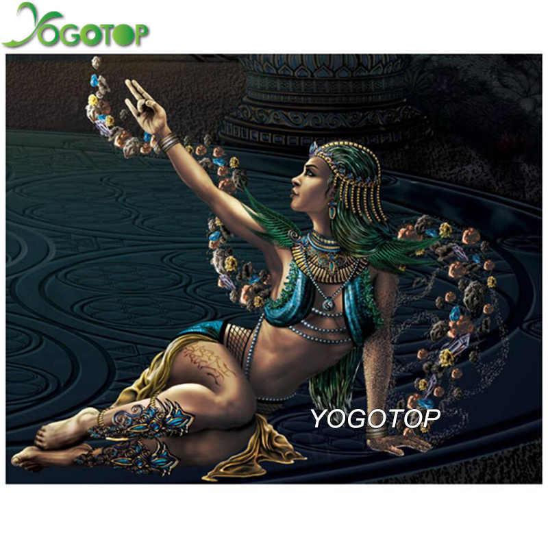 YOGOTOP 5d DIY Алмазная картина египетская Женская королева полная квадратная/Круглая