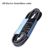 6M Electric Guitar Bass Cable Oxygen Free Copper connecting lines musical instrument  connector wire Audio Cobles free shipping