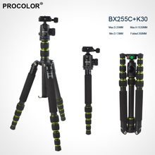 Lightweight Portable Carbon Fiber Tripod Professional Tripod Monopod For SLR Camera flexible Tripod Ball Head