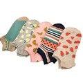 Девушки Летние Носки Тонкие Прекрасные Фрукты Простой Дизайн Женские Низкие Cut Лодыжки Лодка Носки Леди Случайные Невидимые Носки для женщины