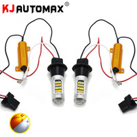 2pcs T20 7440 1000LM 20W Car 42 SMD 2835 LED Light Dual Color Switchback Turn Signal