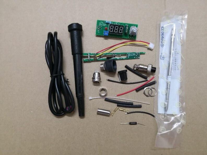 Купить с кэшбэком LIXF Digital Soldering Iron Station Temperature Controller Kits for HAKKO T12 Handle