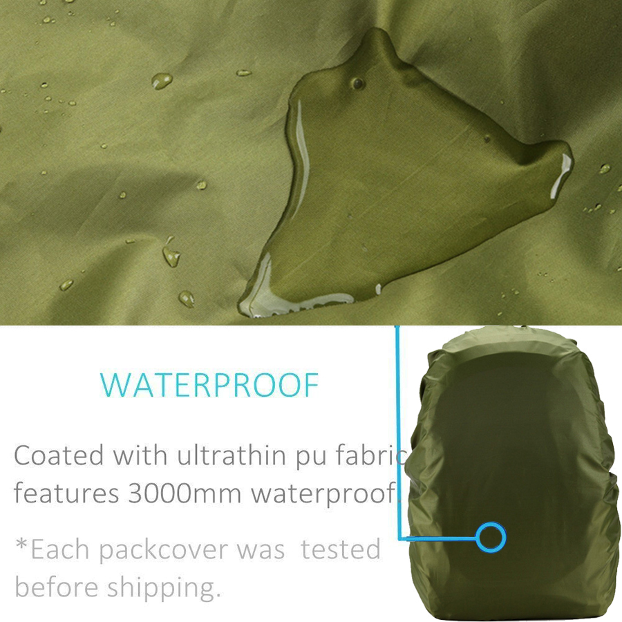 Rain cover backpack 20L 30L 35L 40L 50L 60L Waterproof Bag Camo Tactical Outdoor Camping Hiking Climbing Dust Raincover          2
