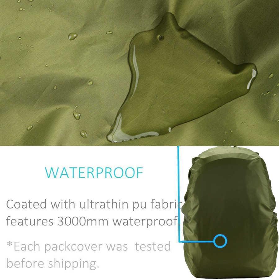 Rain Cover Ransel 20L 30L 35L 40L 50L 60L Tahan Air Tas Camo Taktis Luar Ruangan Camping Hiking Climbing Debu Raincover