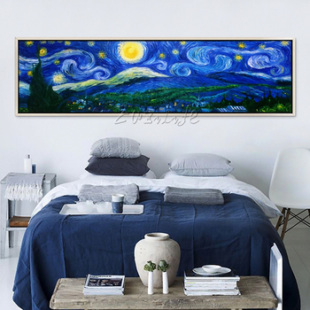 Canvas oil Painting van Gogh star painting wall Art pictures for living room Home decor caudros decoracion van Gogh Reproduction