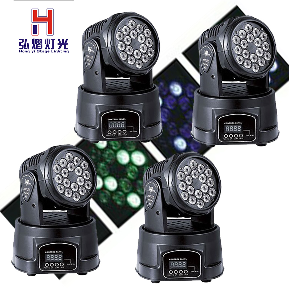 4 PCS/lot 18X3W Beam Moving Head Light RGBW LED Wash Stage Lighting Good for dj4 PCS/lot 18X3W Beam Moving Head Light RGBW LED Wash Stage Lighting Good for dj