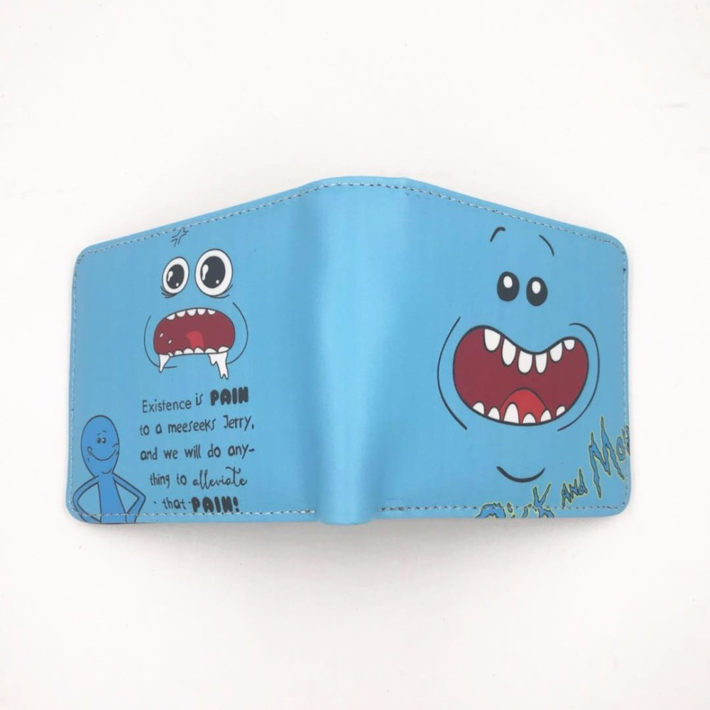 New Arrive 2018 Rick and Morty Wallet Pickle Rick Bifold Zipper Coin Money Cards Wallet W447 rick and morty pu faux leather bifold wallet dft 10112