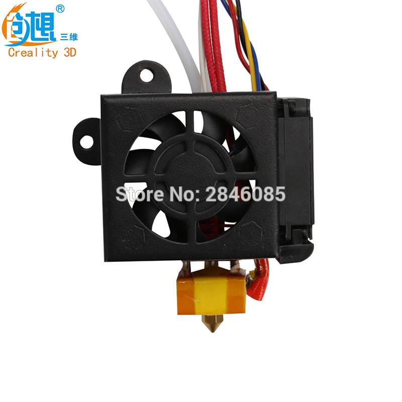 Creality 3D cr10 Full Assembled mk10 Extruders Hot End fans Cover Air Connections Nozzle Kits for cr-10 Series 3D Printer Parts 3d printer parts lulzbot budasch nozzle hot end 0 35 mm copper nozzle with resistor heating element 6 8 ohm great quality