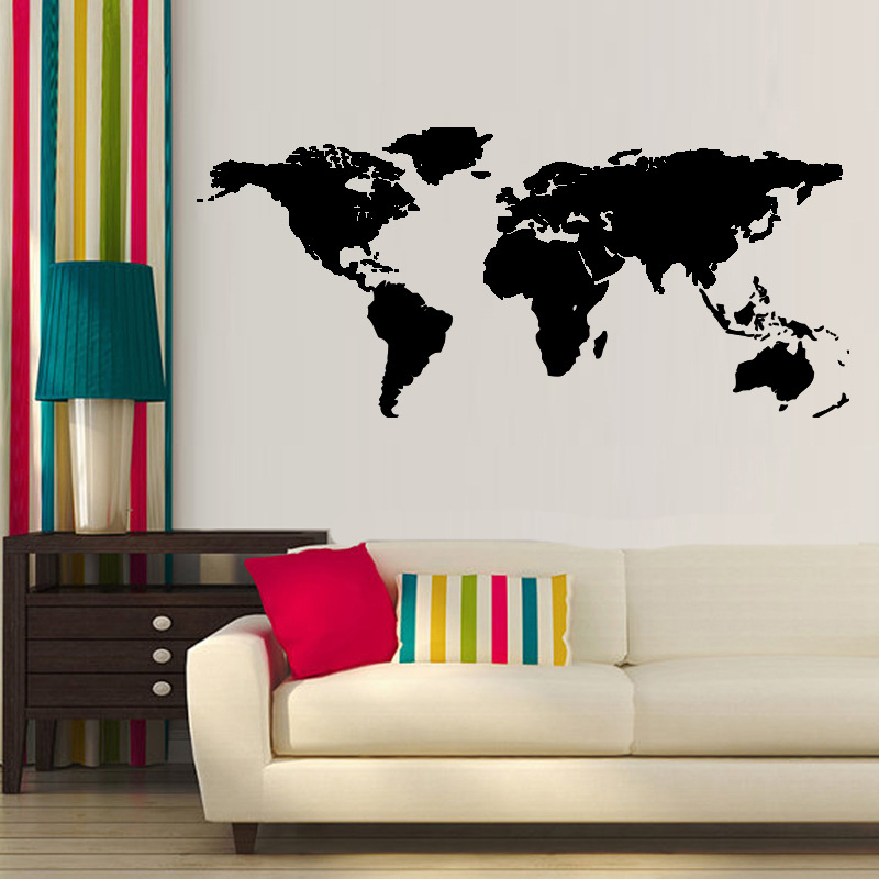 Hot sale hot 1 pcs big global world map atlas vinyl wall art decal hot sale hot 1 pcs big global world map atlas vinyl wall art decal sticker in wall stickers from home garden on aliexpress alibaba group gumiabroncs Images