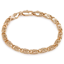 MxGxFam(18 см* 5 мм) золотой цвет дизайн браслеты для мужчин красивые модные ювелирные изделия без содержания свинца и никеля