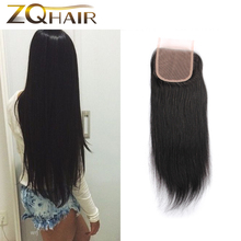 Kinky Closure Real Hot Sale 2016 Beauty Virgin Brazilian Straight Lace Closure Hair For Queen Love Products 4*4 Inch Clousure