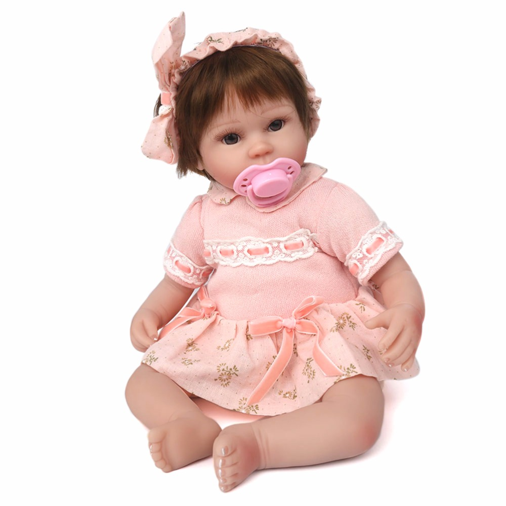 42 cm Baby Reborn Dolls Realistic BeBe Reborn Soft Silicone Dolls For Girls Lifelike Baby Doll Toy Christmas Gift silicone reborn baby doll toy lifelike reborn baby dolls children birthday christmas gift toys for girls brinquedos with swaddle