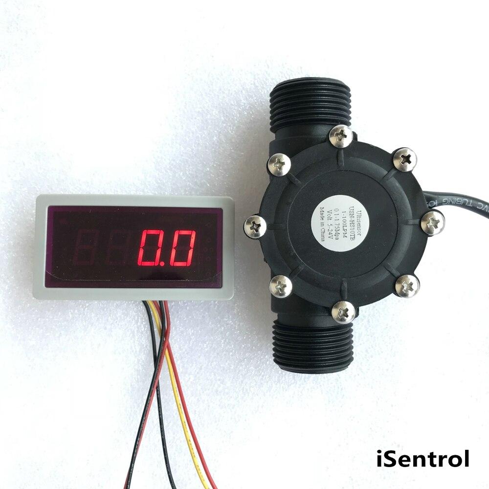 Capteur de débit US208MA + USN-HS10TB 1-100 débitmètre digitron et affichage du débit d'alarmer de pénurie de débit iSentrol