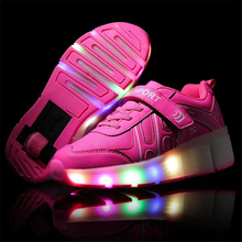 NEW 2017 Women Wheely's Jazzy LED Light Roller Skate Shoes For Audlts  Women One Wheels LED Light Up Shoes With Wheels