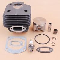 50MM Cylinder Piston Needle Bearing Spark Plug Gasket Kit For HUSQVARNA 268 268K 268XP Chainsaw Parts