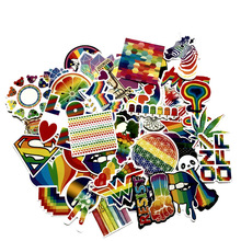 60pcs Rainbow Color Creativity paster funny anime decals scrapbooking diy stickers decoration phone waterproof cartoon accessory