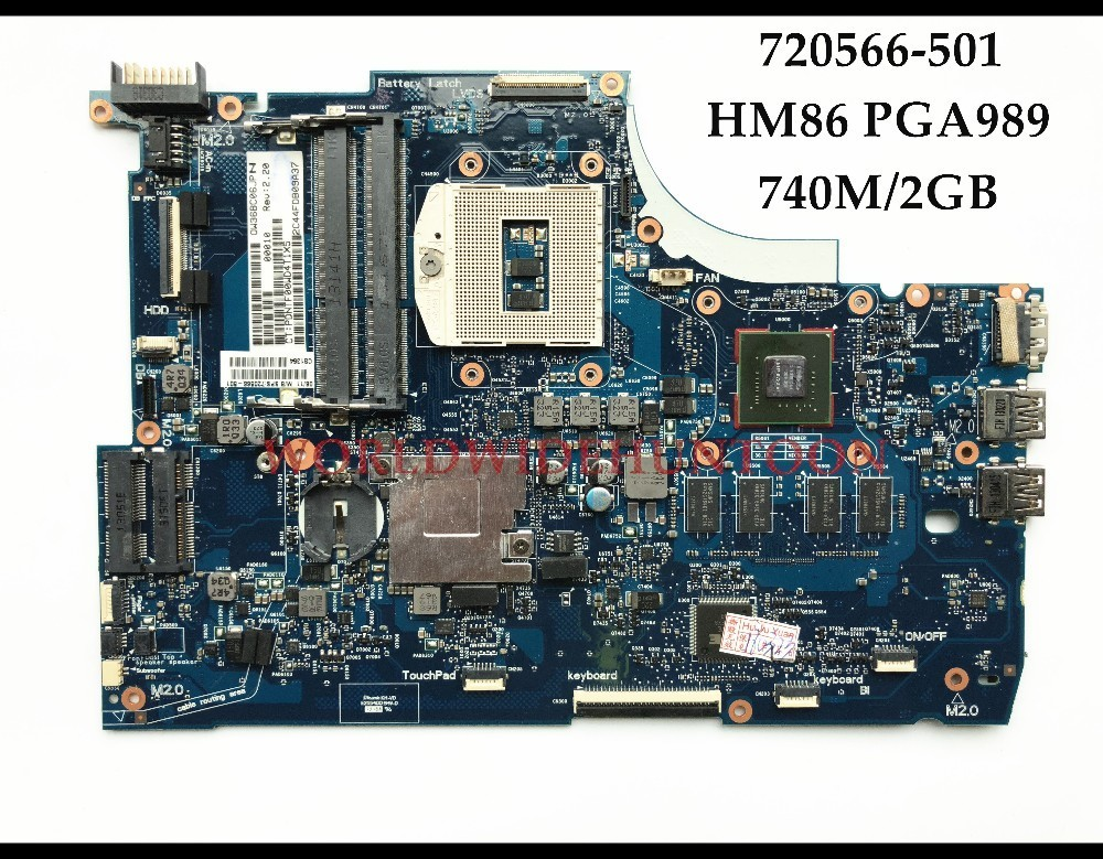 High Quality 720566-501 for HP ENVY 15-J 15T-J Series Laptop Motherboard 720566-001 rPGA947 HM86 DDR3 740M/2GB 100% Fully Tested high quality desktop motherboard for 580