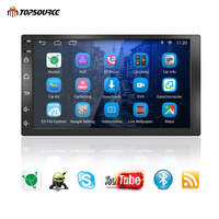 TOPSOURCE 7 universal 2 din car radio gps android 2din Car DVD Player car multimedia player NAVIGATION 1G/16G For VW Nissan