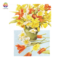 New Frameless White Flower Wall Picture Handmade Spray Printing Hand Painted Oil Painting On Canvas For