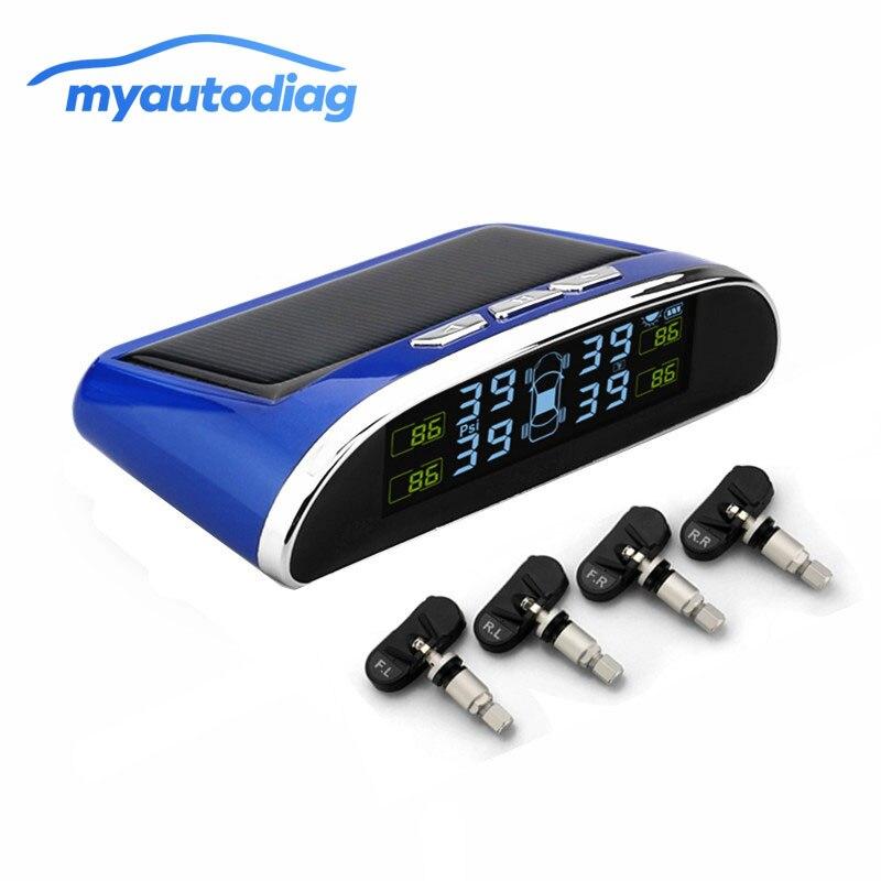 TPMS монитор давления в шинах Система автомобильной сигнализации диагностический инструмент беспроводной Солнечный цветной ЖК дисплей