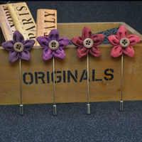 Mdiger bukiet kwiatów Lapel Pins dla mężczyzn garnitur przycisk klapy Pin ręcznie robione broszki ślubne broszka 100 sztuk/partia