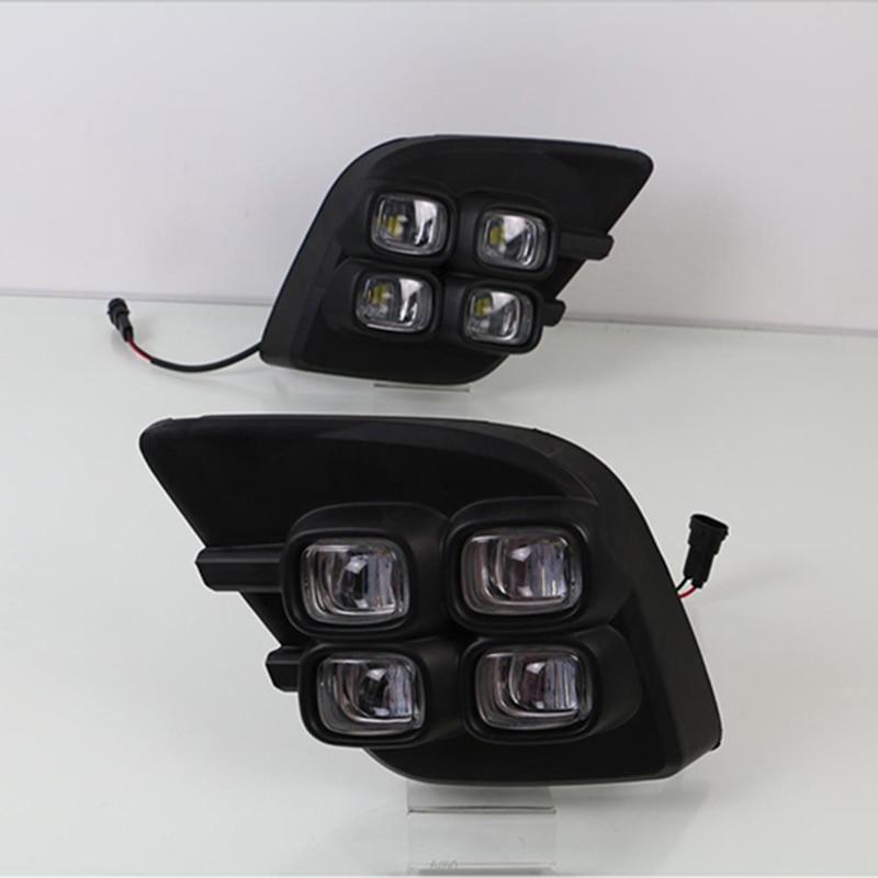 Car Flashing LED DRL Daytime Running Lights for Toyota Hilux Revo Vigo 2015 2016 2017 Daylight
