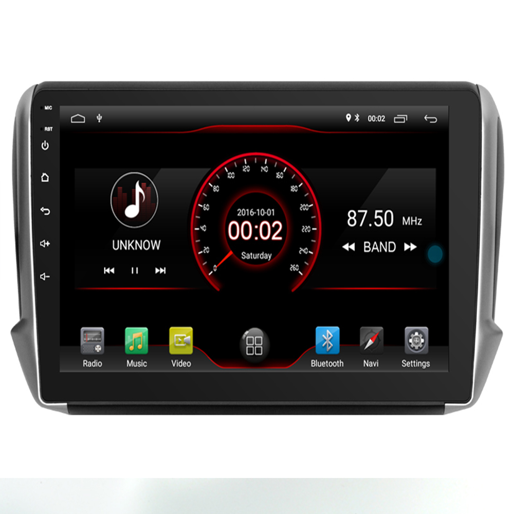 <font><b>Android</b></font> 9.1 Car DVD Player GPS Navigation Multimedia For <font><b>peugeot</b></font> 2008 <font><b>208</b></font> Radio 2014-2018 wifi image