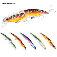 YINGTOUMAN 13CM Long 3D Eyes Lifelike Fish Skin Durable Fishing Lure Artificial Bait With High Carbon Steel Sharp Barbed Hook