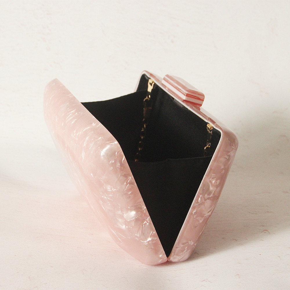 Image 5 - 2019 New Brand Fashion Women Evening Bags Pink Cute Handbags Luxury Party Prom Acrylic Bags Woman Wedding Bride Casual Clutch-in Clutches from Luggage & Bags