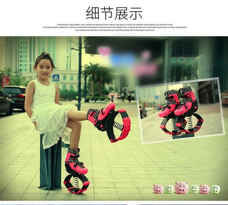 Chaussures de rebond échasses urbaines jouets pour enfants avec 2 Dans 1 Skate Et Kangourou Exercice fitness 20 ~ 70 kg Chaussures de Course en plein air jouet