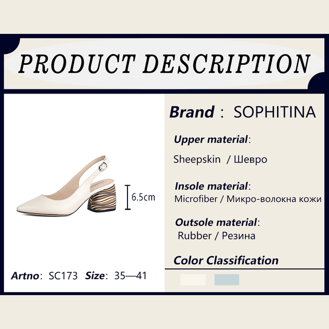 SOPHITINA Sexy Pointed Toe Sandals High Quality Sheepskin Fashion Buckle Comfortable Square Heel Shoes Shallow New