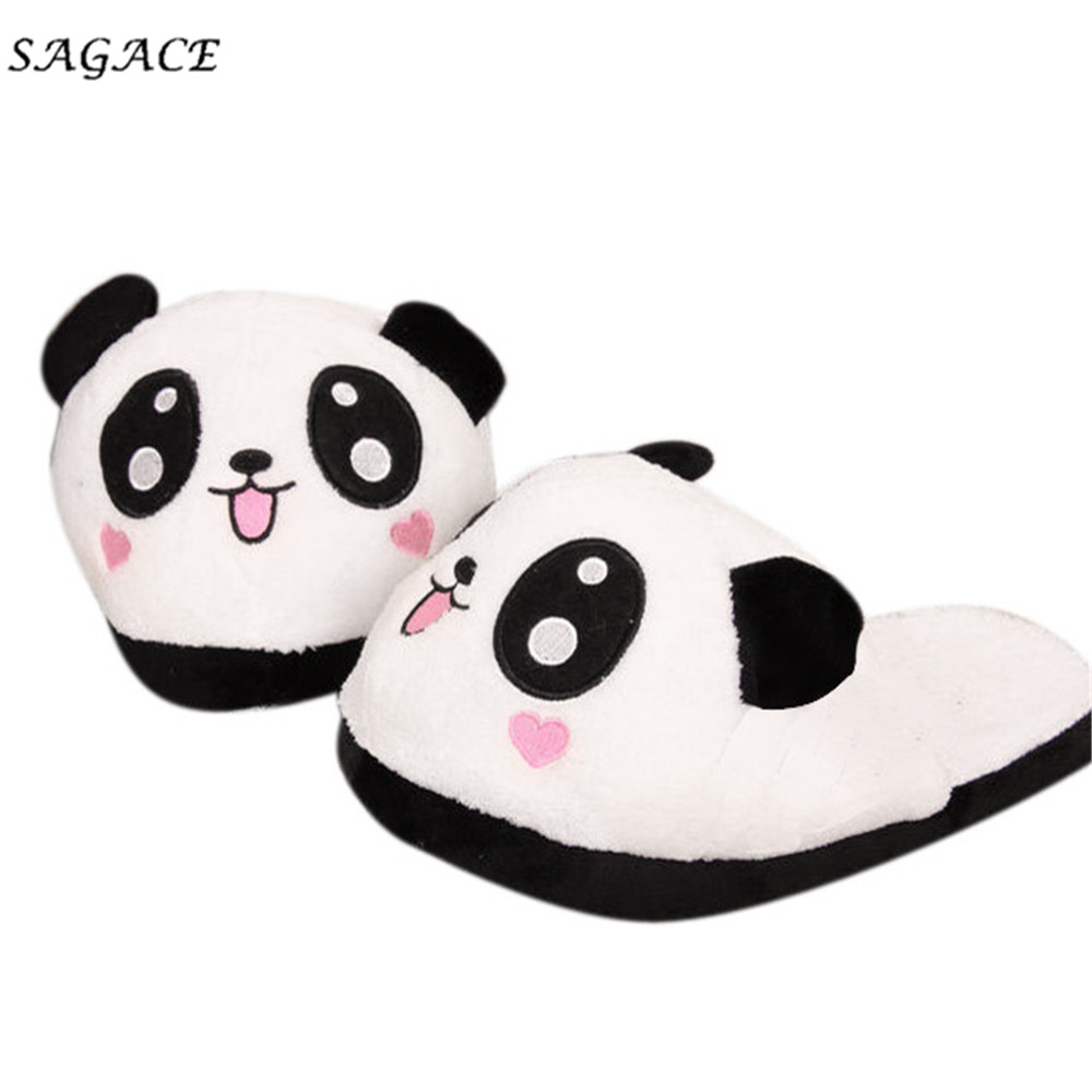 SAGACE shoes Women Men Panda Winter Warm Soft Plush Antiskid Cute Panda Winter Warm Plush Antiskid Indoor Home Slippers mujerSAGACE shoes Women Men Panda Winter Warm Soft Plush Antiskid Cute Panda Winter Warm Plush Antiskid Indoor Home Slippers mujer
