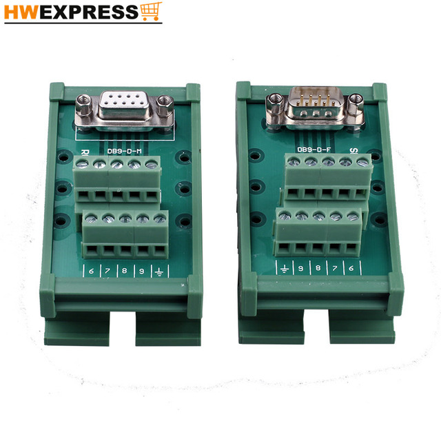 232 serial port DB9 core common bus guide rail type relay terminal