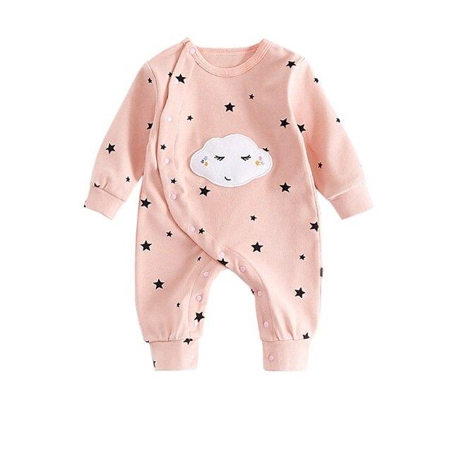 fa268739b490 Autumn Newborn Baby Rompers Warm Jumpsuit Cloud Print Costume Girls ...