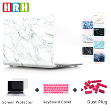 HRH Stylish Marble Eco-friendly Hard Plastic Case Laptop Body PC Shell for Mac Air Pro Retina 13 15Touch Bar A1989 A1990 A1706