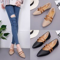 Brand Ksyoocur 2018 New Ladies Flat Shoes Casual Women Shoes Comfortable Pointed Toe Flat Shoes Spring/autumn Women Shoes 18 021