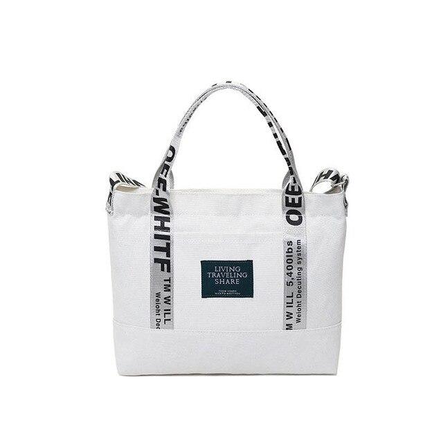 2019 moda Color sólido carta patrón bolso de hombro para mujer nueva bolsa de alta calidad de Mensajero de lona de gran capacidad bolso de niña