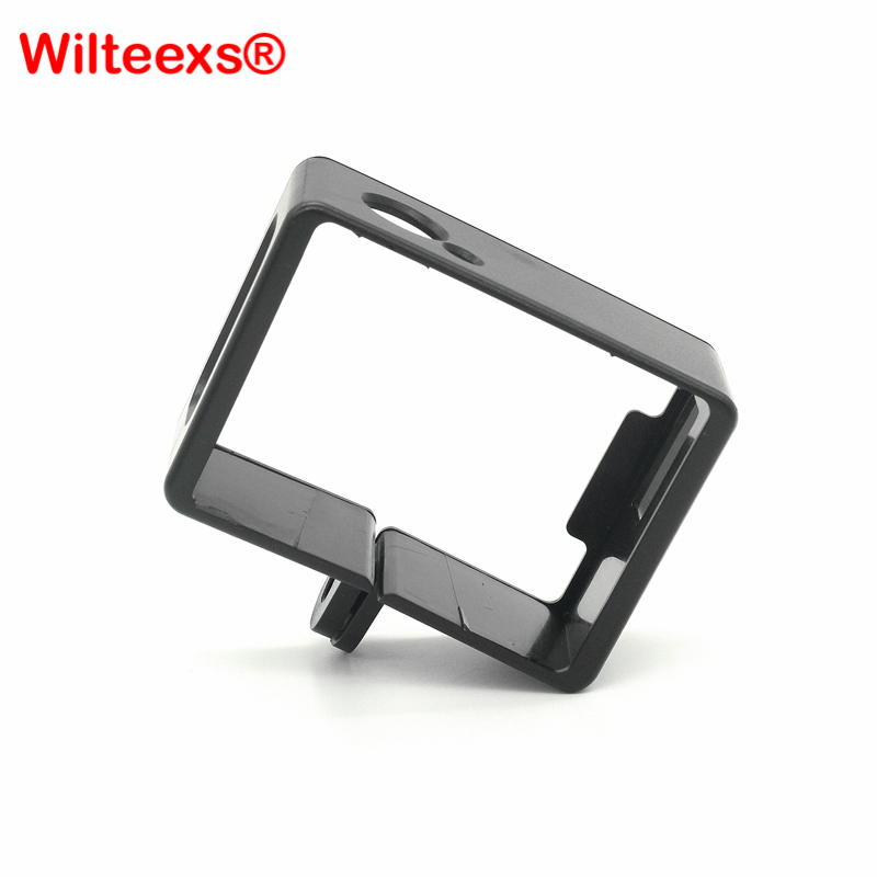 WILTEEXS Sports Action Camera Accessories Set Black Plastic Standard Protective Side Border Frame For Sjcam Sj4000 Wifi CAM Case