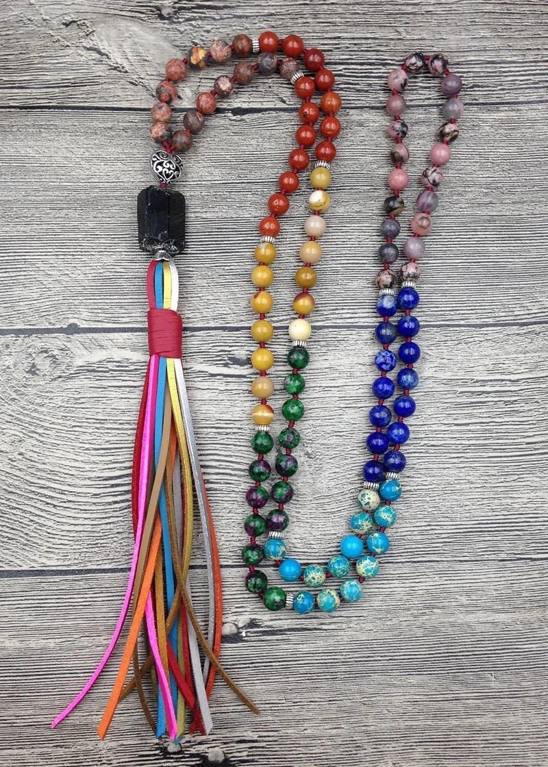 8 mm Black Tourmaline Bead Necklace-18 inch,20 Inch,22 Inch,24 Inch,27 inch