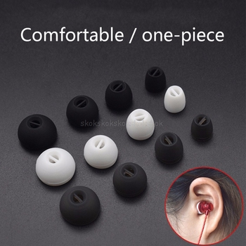 4 Pairs Ear Tips Buds In-Ear Earphone Silicone Earbuds Earhooks Eartips Replacement for CX3.00 CX5.00 Wireless Bluetooth Mr29 19