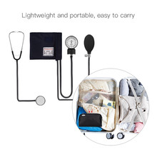 Aneroid Sphygmomanometer Manual Blood Pressure Monitor Cuff Stethoscope