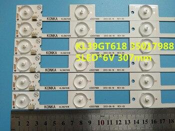 50 piezas nuevo y original para Konka KL39GT618 Barra de luz, 35017988 35017990 lámpara de luz de fondo LED tira de 6 v