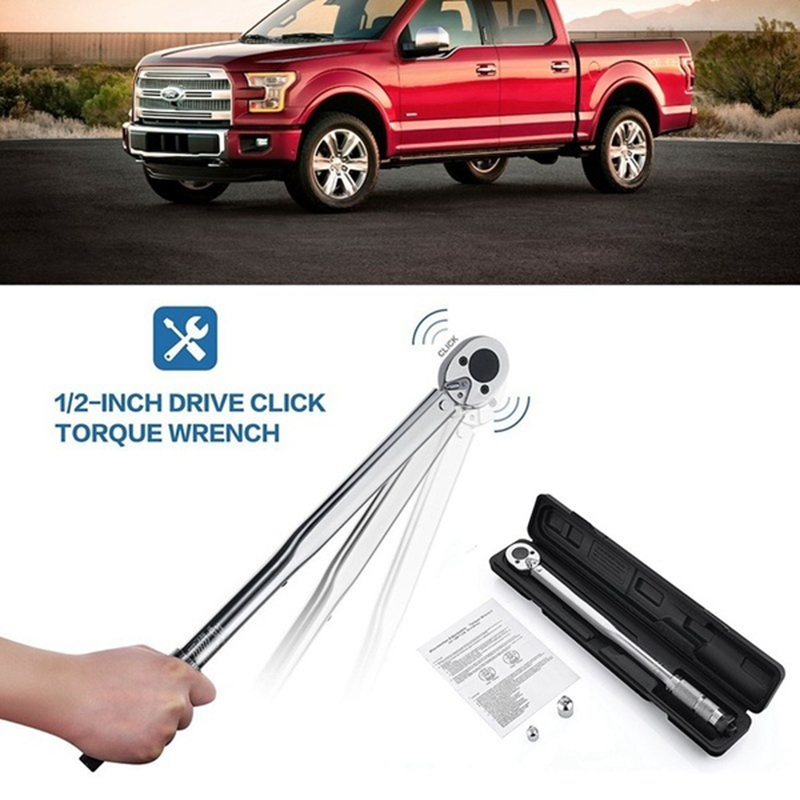 KALAIDUN 1/2 Inch 10-150ft Torque Wrench Adjustable Faster Multi Tool Metal Hand Tools for Vehicles Mechanical Modified Cars DIYKALAIDUN 1/2 Inch 10-150ft Torque Wrench Adjustable Faster Multi Tool Metal Hand Tools for Vehicles Mechanical Modified Cars DIY