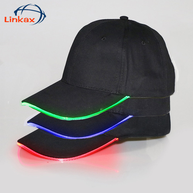 a7bf71e06b456 Adjustable Bicycle 5 LED Headlamp Cap Battery Powered Hat With LED Head  Light Flashlight For Fishing Jogging Baseball Cap