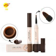 BY nanda Eyebrow Waterproof Eyes Makeup Brows Gel Gray Brown Henna Tattoo Long Lasting Eyebrow Dye Gel Brush Kit maquillaje