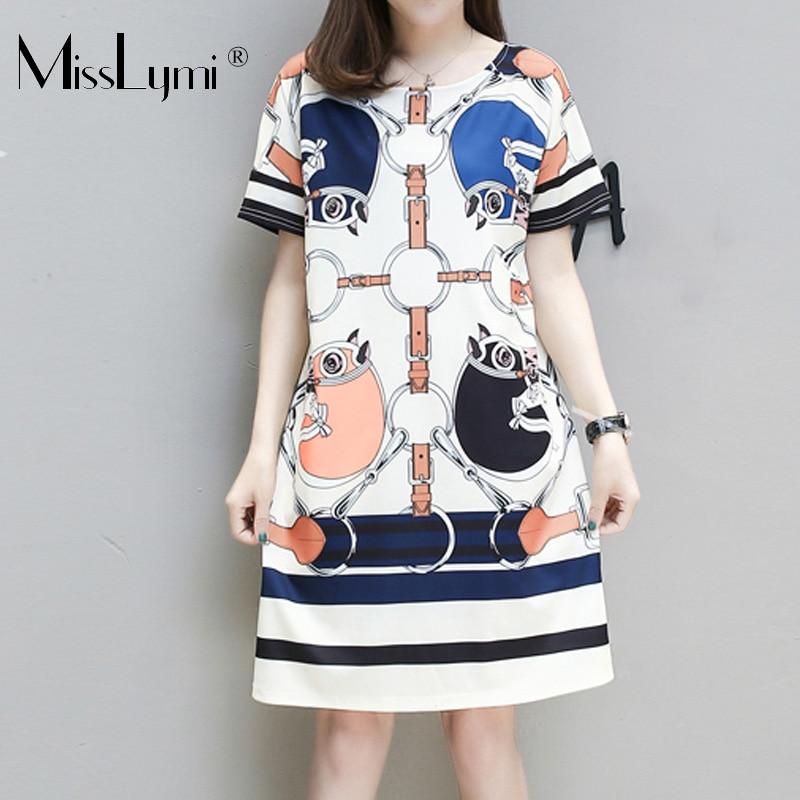 ad94cfbaf3c Women Harajuku Letter Print T-Shirt Dress Plus Size Casual Loose Summer  Dress Cartooon Print Short Dresses Vestido