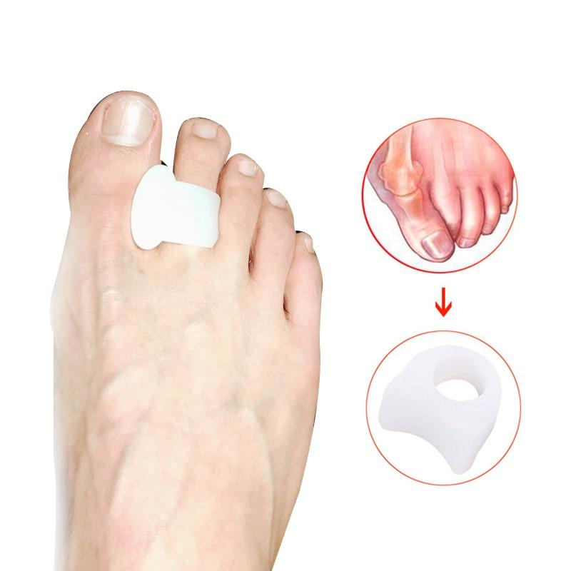4Pcs=2Pair Silicone Toes Separators Orthopedic Concealer Thumb Hallux Valgus Corrector Pedicure Device Bunion Adjuster Foot Care