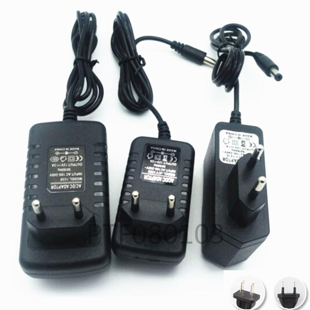 AC100V-240V power Adapter Converter to DC 12V 1A Power Supply EU/US Plug DC for 3528 led tape Free shipping